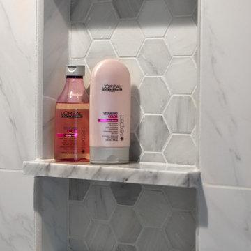 Washington Township Carrara Master Bathroom