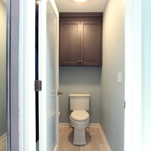 Water Closet with Grey Stained Maple Toilet Topper