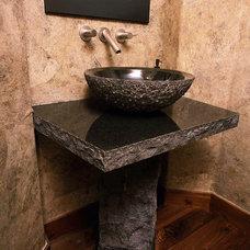 Contemporary Bathroom by Apex Mountain Homes