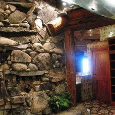 Tropical Bathroom by Inside Eye Design