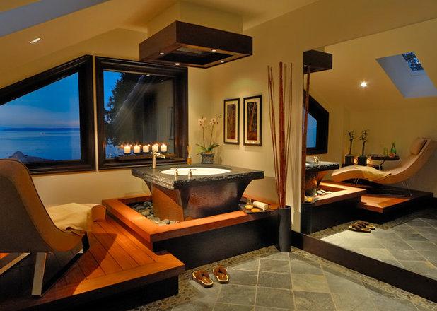 Asian Bathroom by Arca 3 Design Studio Inc.