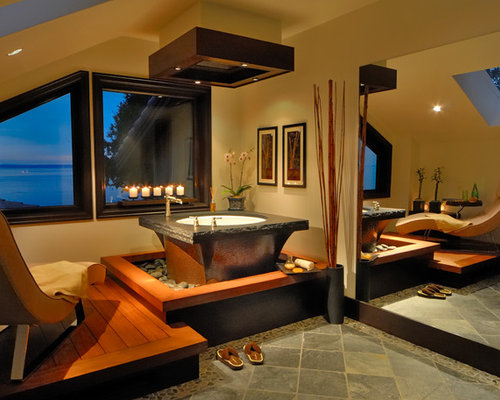 Raised bathtub home design ideas pictures remodel and decor - Asian themed bathroom accessories ...