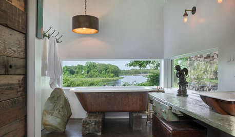 Room of the Day: A Salvaged Bathroom Full of Fresh Ideas