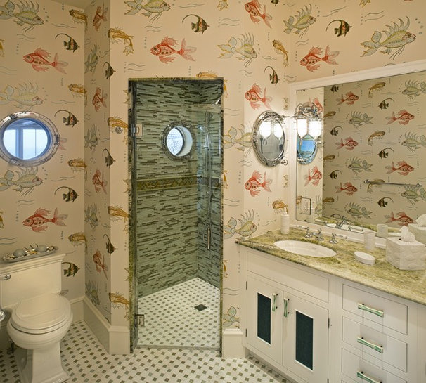 Beach Style Bathroom by Bruce Palmer Interior Design
