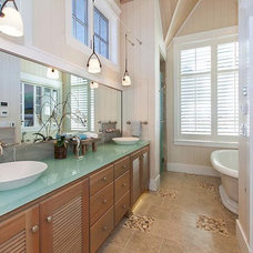Beach Style Bathroom by Signature Design & Cabinetry LLC
