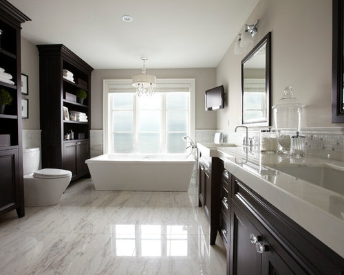 Large master bath houzz for Large bathroom designs