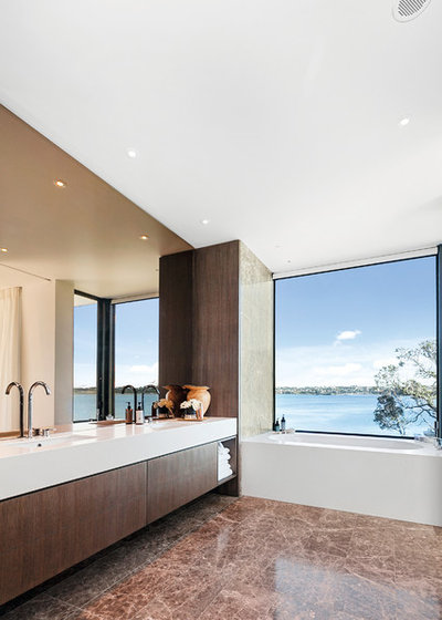 Contemporary Bathroom by DBJ Furniture Ltd - Custom Kitchens and Cabinetry