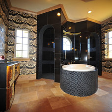 Mediterranean Bathroom by Jonn Spradlin Design LLC