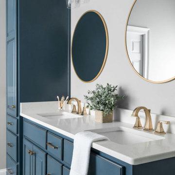 Watkinsville Master Bath Blue remodel