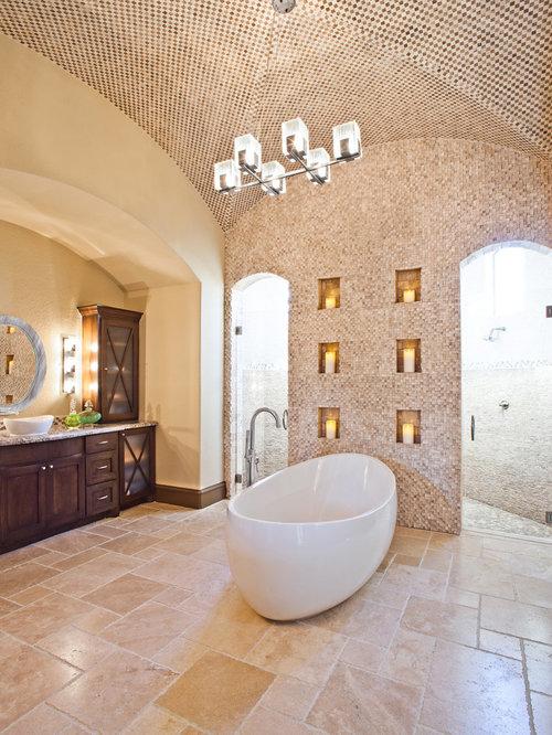 Best travertine tiles design ideas remodel pictures houzz - Best type of tile for bathroom floor ...