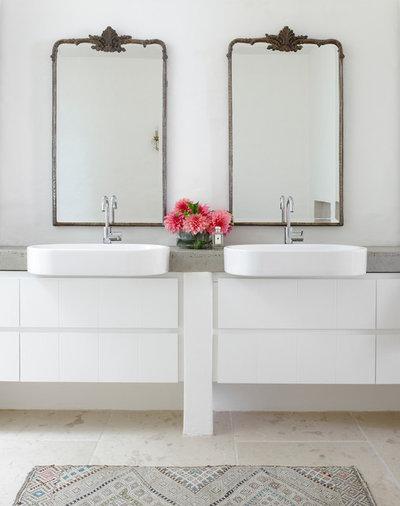 Coastal Bathroom by Walter Barda Design