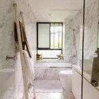 Hex Mosaic Tiles Traditional Bathroom San Francisco