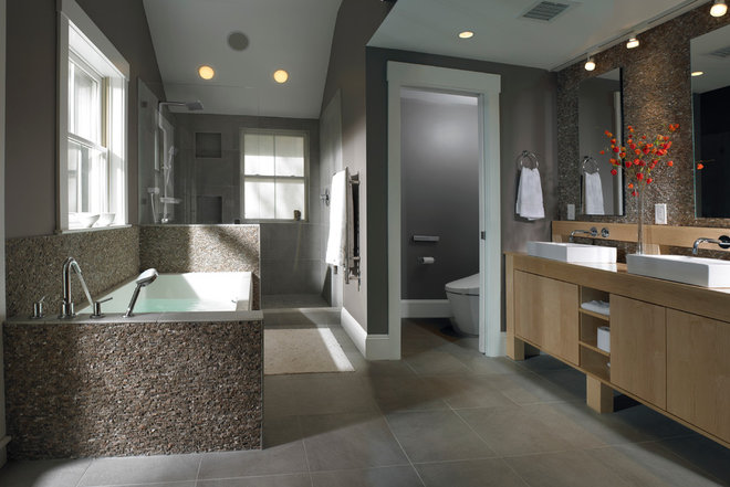 Contemporary Bathroom by Michael Kim Assoc