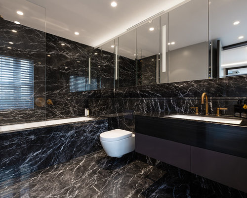 bathroom ideas & photos with stone slabs