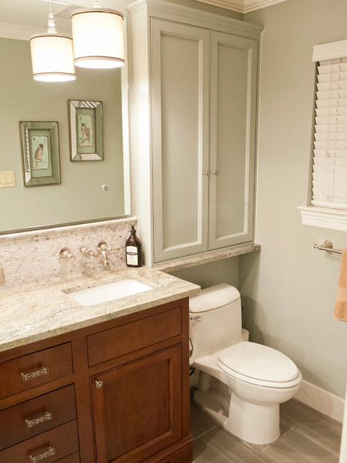 Cabinet above toilet houzz for Bathroom cabinets above toilet
