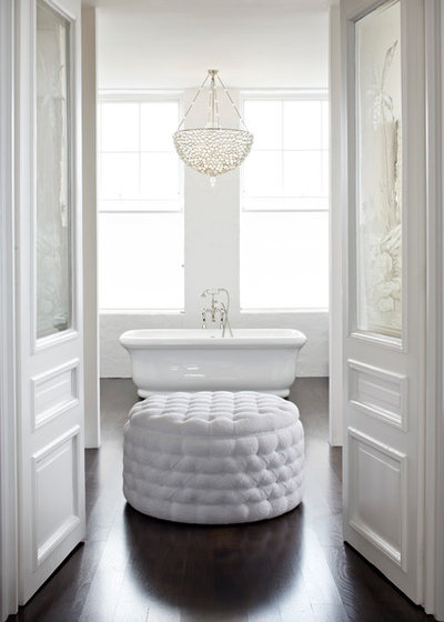 Why you need a chandelier in the bathroom transitional bathroom by cc construction ltd aloadofball Image collections