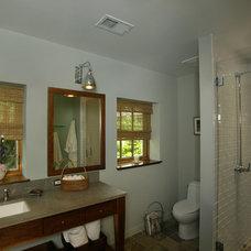 Farmhouse Bathroom by Ann Clark Architects LLC