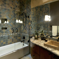 Southwestern Bathroom by Process Design Build, L.L.C.