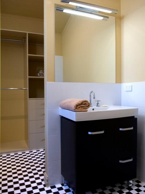 Дизайн черно белой ванны фото плитки