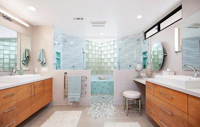 Bathroom of the Week: Retirees Splash Into Soothing Beach Style