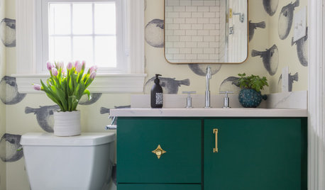 Bathroom of the Week: A Tiny but Fun and Timeless Kids' Bathroom