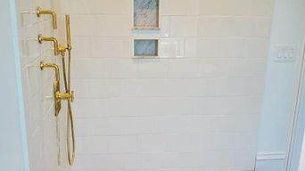 Wellesley - Master Bathroom with Gold Fixtures