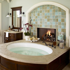 Tropical Bathroom by Wendi Young Design