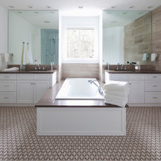 Transitional Bathroom by Lynn Donaldson & Associates