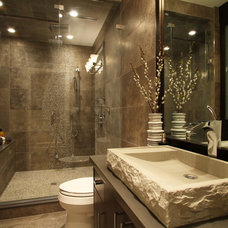 eclectic bathroom by KASHMIR DHALIWAL FINE REDESIGN.