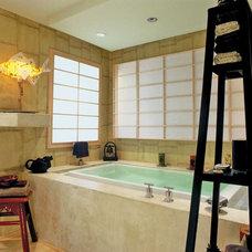 Asian Bathroom by Sharon Flatley Design