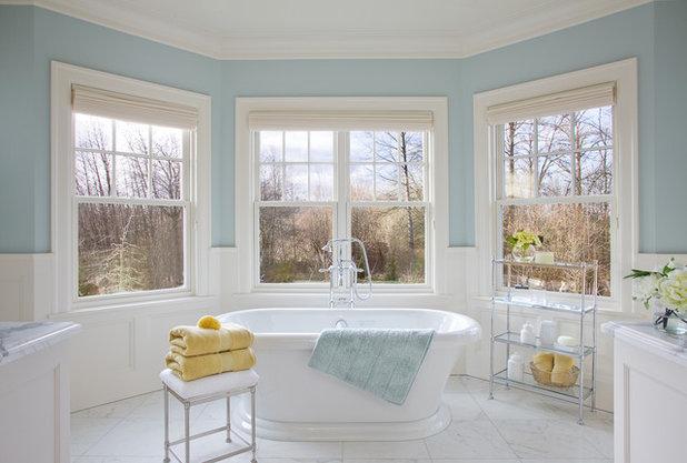 Stunning Traditional Bathroom by Garrison Hullinger Interior Design Inc