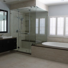 Contemporary Bathroom by Noah Construction & Design