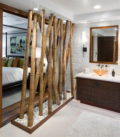 Asiatique Salle de Bain by Arch-Interiors Design Group, Inc.