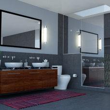 Modern Bathroom by nFORMAL design