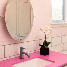 Transitional Bathroom by Amity Worrel & Co.