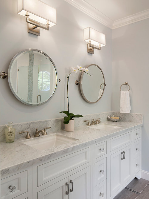 Example Of A Mid Sized Transitional Bathroom Design In San Francisco With  An Undermount Sink