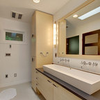 Attic Bedroom Transformed Into Contemporary Bathroom