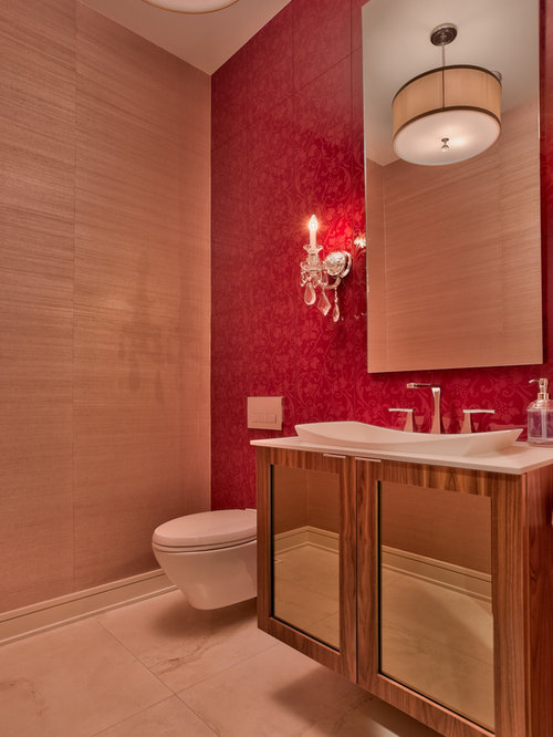 Accent wall ideas bathroom design ideas pictures remodel for Red accent bathroom