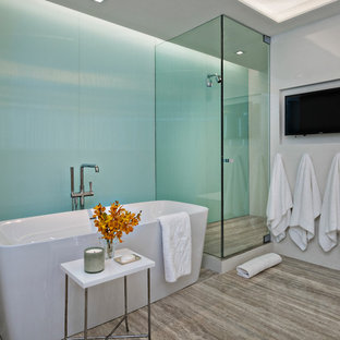 Lovely 75 Most Popular Modern Blue Tile Bathroom Design Ideas For 2019   Stylish Modern  Blue Tile Bathroom Remodeling Pictures | Houzz