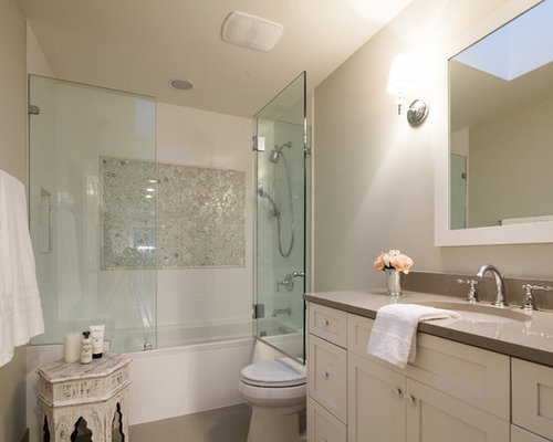 Glass Door Bathtub Home Design Ideas Pictures Remodel And Decor - Alcove tub shower combo