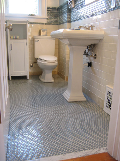 Penny Tile Floor Ideas Pictures Remodel And Decor