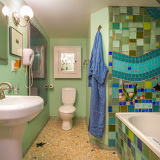 Beach Style Bathroom by Cassie Daughtrey Realogics Sotheby's Realty