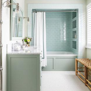 Design ideas for a medium sized nautical bathroom in London.