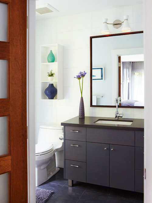 Example Of A Trendy Bathroom Design In Toronto With An Undermount Sink
