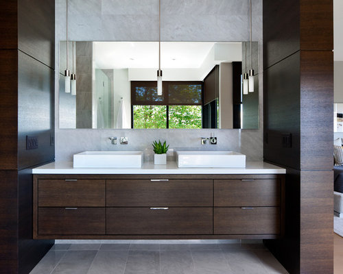 Pendant lights above vanity houzz for Pendant lighting for bathroom vanity