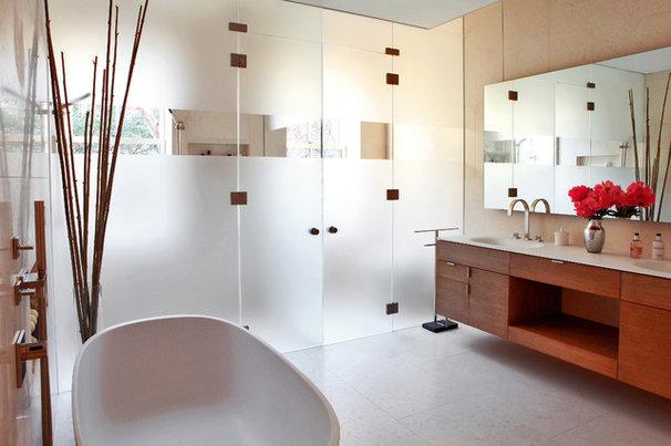 Modern Bathroom by moment design + productions, llc