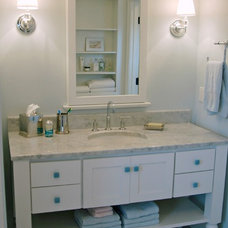Beach Style Bathroom by Kitchen & Bath Details