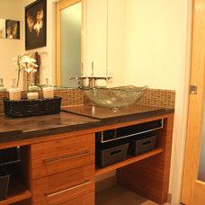 Asian Bathroom by Chanelle M Woodis / Creative Kitchen & Bath