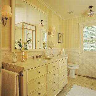 Réalisation d'une salle de bain tradition.