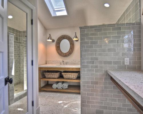 Salle de bain classique avec un plan de toilette en b ton for J bathrooms westcliff